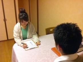 滋賀県草津市の整体院ライフスタイルカイロプラクティック カルテ記入